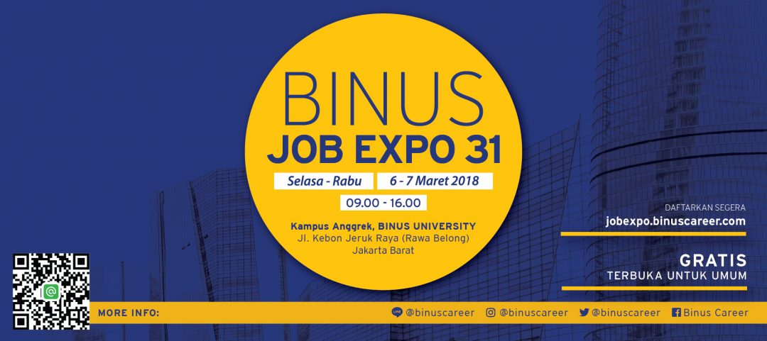 Binus Job Expo Maret 2018